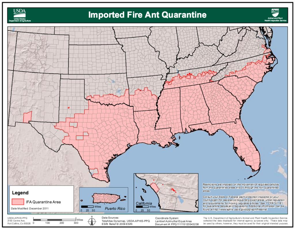 USDA-Fire-Ant-Quarantine-Map